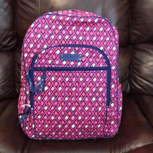 NWT Vera Bradley katalina pink campus backpack 24ddaa31ec03e